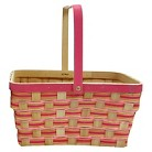 Easter Woven Wood Basket - Pink