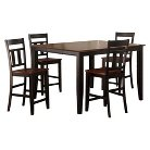 5 Piece Thornton Extendable Counter Height Dining Set - Black/Cherry - Homelegance