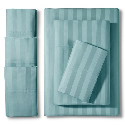 Elite Home Delray Damask 600TC 6-Pc Sheet Set - Blue Haze (Queen)