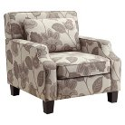 Clare Arm Floral Chair Grey - Homelegance
