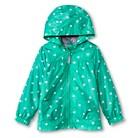 Infant Toddler Girls' Polka Dot Windbreaker - Green