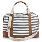 Women's Striped Weekender Handbag - Gray - Merona™