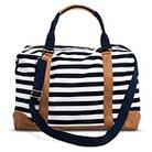 Women's Striped Weekender Handbag Navy/White - Merona™