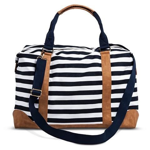 8b1b5efda160 Womens Striped Weekender Handbag Navy   White Merona™ on PopScreen
