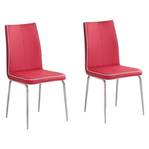 Gelston Dining Chair Metal Red Set of 2 Home Tar