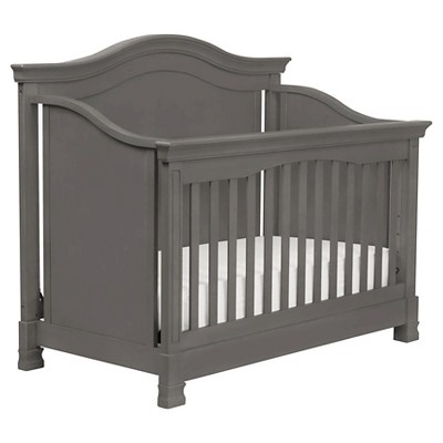 Million Dollar Baby Classic Louis 4-in-1 Convertible Crib with Toddler Rail - Manor Grey