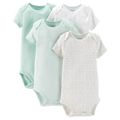 Precious Firsts™Made by Carter's® Newborn 4 Pack Bodysuit Set - Mint NB
