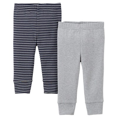 Precious Firsts™Made by Carter's® Newborn Boys' 2 Pack Pant - Navy/Grey NB