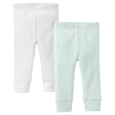 Precious Firsts™Made by Carter's® Newborn 2 Pack Pant - Mint/Beige NB