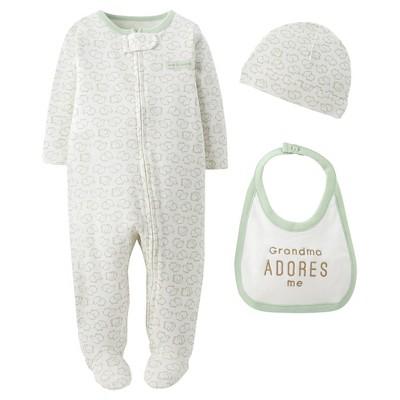 Precious Firsts™Made by Carter's® Newborn 3 Piece Sleep N' Play Set 6 M