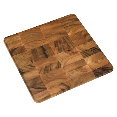 "Lipper Acacia Square Chopping Block (16"")"