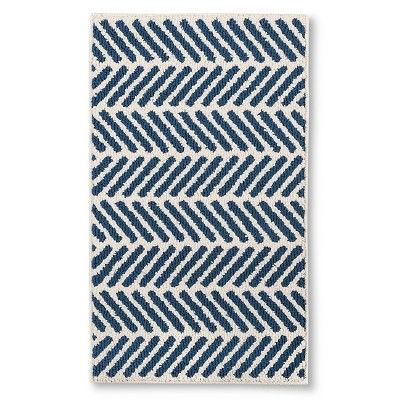 "Threshold™ Chevron Accent Rug - Blue (1'8""x2'10"")"