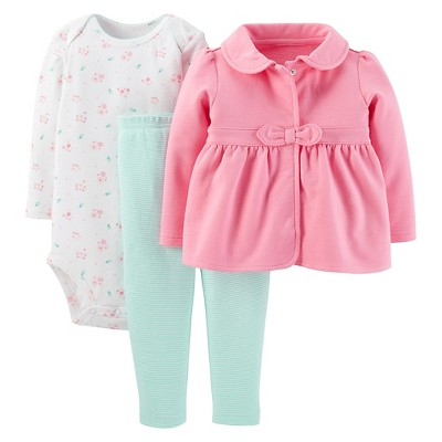 Just One You™Made by Carter's® Newborn Girls' Floral and Stripe 3 Piece Set NB