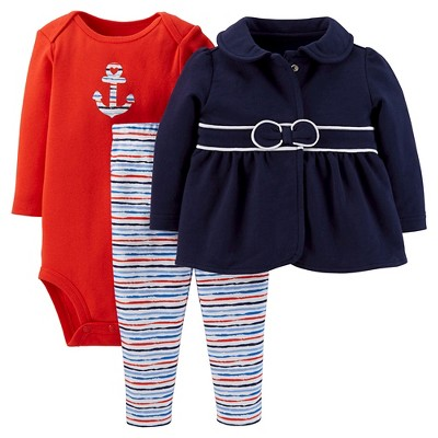 Just One You™Made by Carter's® Newborn Girls' 3pc Anchor Set 3 M