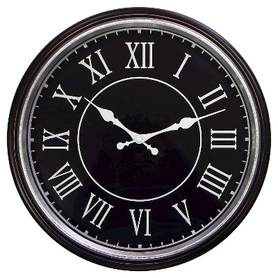 "Distressed Wall Clock - Black 17.5"" - Threshold™"