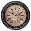 "Map Wall Clock - Distressed Bronze 14"""