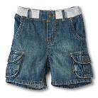 Toddler Boys Denim Cargo Short - Noah Wash