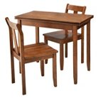 3 Piece Expandable Dining Set with Storage - Chestnut - Threshold™
