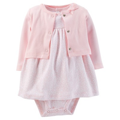 Just One You™Made by Carter's® Newborn Girls' 2 Piece Dress Set - Light Pink NB