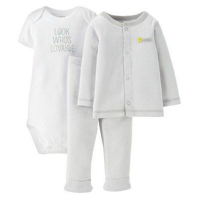 Just One You™Made by Carter's® Newborn Boys' Look Whos Lovable 3 Piece Set 3 M
