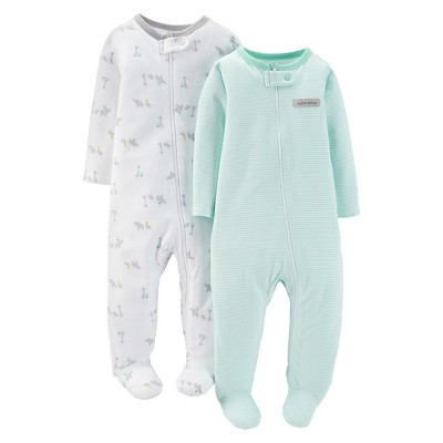 Ecom Male Footed Sleepers Just One You PREEMIE Mossy Veranda