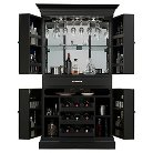 Francesca Wine Cabinet - Black