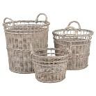 Anita Wicker Collection Round Basket - Set of 3