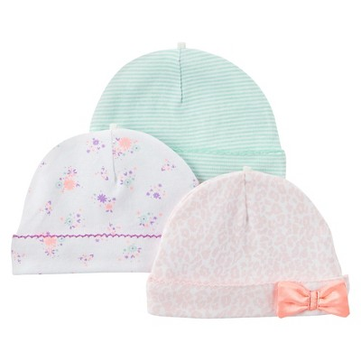 Just One You™Made by Carter's® Newborn Girls' 3 Pack Cap Set