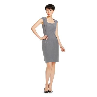 Women's Bi-Stretch Twill Sheath Dress Heather Grey 18 - Merona™