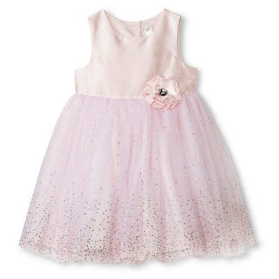 Toddler Girls Sparkle Ballerina Dress - Light Pink 2T