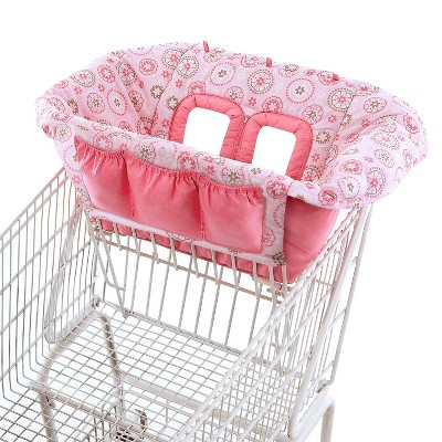 Comfort & Harmony Cozy Cart Shopping Cart Cover - Pink Print