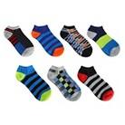 Boys' 7-Pack Striped Low-Cut Socks