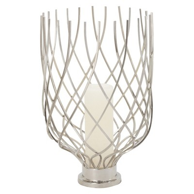 Lazy Susan Single Candle Holder - Silver