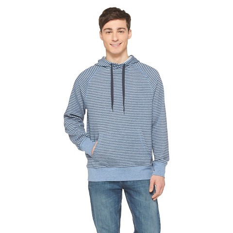 Mens Slim Fit Striped Hoodie