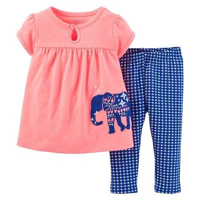 Just One You™Made by Carter's® Girls' Elephant 2 Piece Set12 M