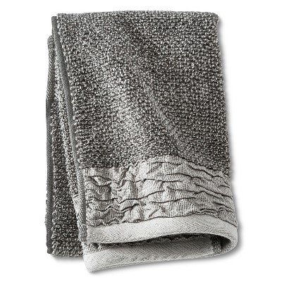 Hand Towel Pucker Border Gray - Threshold™