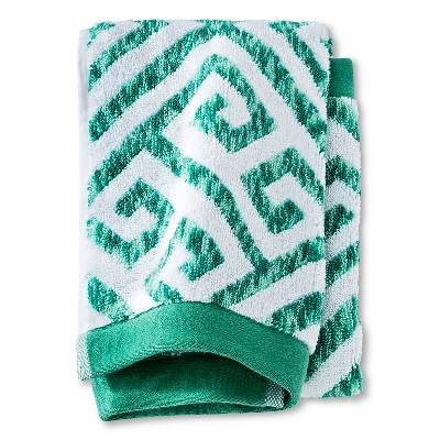 Hand Towel Green Greek Key - Threshold™