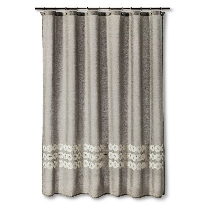 Shower Curtain Grey Circles - Threshold™