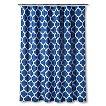 Threshold Shower Curtain Dark Blue Space Dye Lattice