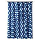 Shower Curtain Dark Blue Space Dye Lattice - Threshold™