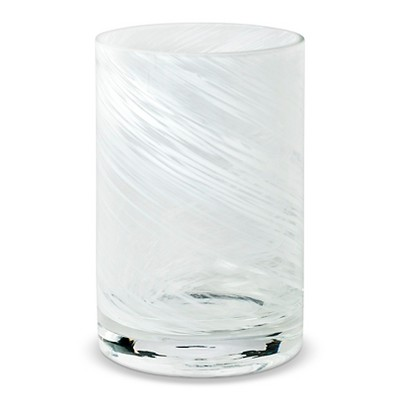 Tumbler White Swirl Glass - Threshold™