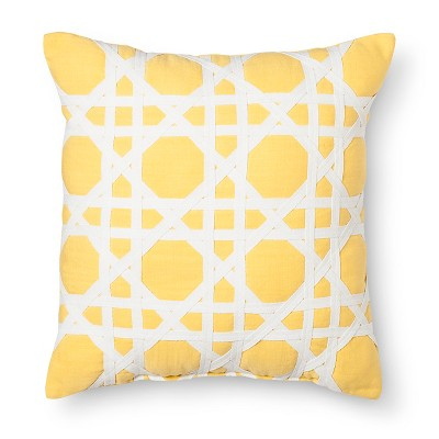 Threshold™ Cane Pattern Decorative Pillow - Yellow