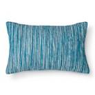 Threshold™ Yarn Dyed Woven Lumbar Pillow - Blue