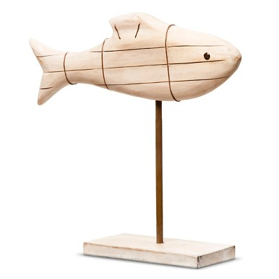 Threshold Decorative Wood Fish Figural