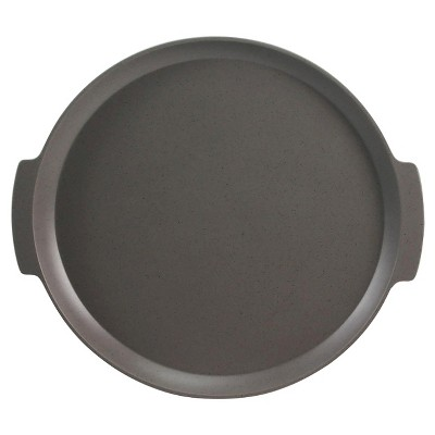 Threshold™ Round Melamine Serving Tray  with Concrete Speckle Finish - Grey