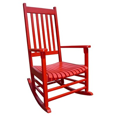 International Concept Patio Rocking Chair - Red