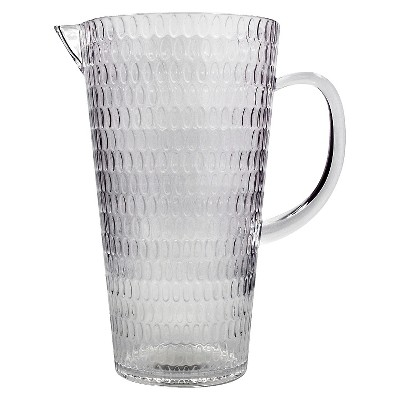 Pitcher with Dots - Clear