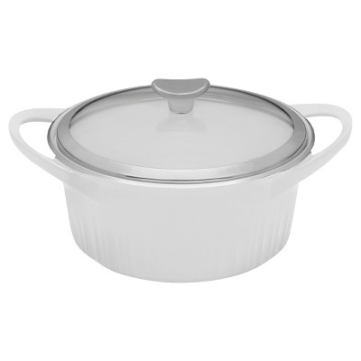 CorningWare French White Cast Aluminum™ 3.5-qt Round Dutch Oven, White