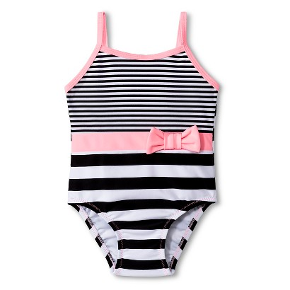 Girls' Stripe One Piece Swimsuit