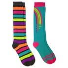 Girls' 2-Pack Striped Knee High Socks